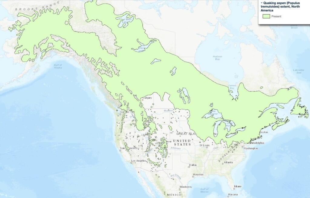 aspen range map
